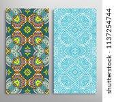vertical seamless patterns set  ...   Shutterstock .eps vector #1137254744