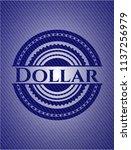 dollar badge with denim... | Shutterstock .eps vector #1137256979