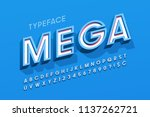 stylish 3d display font design  ... | Shutterstock .eps vector #1137262721