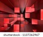 3d red abstract background of...   Shutterstock . vector #1137262967