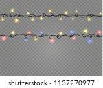 christmas lights isolated...   Shutterstock .eps vector #1137270977