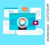online education concept.... | Shutterstock .eps vector #1137276149