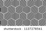 abstract geometric pattern with ... | Shutterstock .eps vector #1137278561