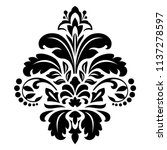 damask graphic ornament. floral ... | Shutterstock .eps vector #1137278597