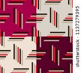 geometric simple seamless... | Shutterstock .eps vector #1137279395