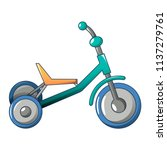 tricycle icon. cartoon of... | Shutterstock .eps vector #1137279761