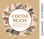 cacao beans plant  vector... | Shutterstock .eps vector #1137283691