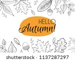 hello autumn  hand drawn... | Shutterstock .eps vector #1137287297