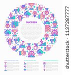 success concept in circle thin... | Shutterstock .eps vector #1137287777