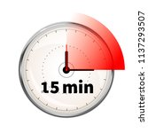 realistic clock face with... | Shutterstock .eps vector #1137293507
