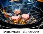 burgers and cheeseburgers... | Shutterstock . vector #1137299045