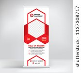 design roll up  advertising... | Shutterstock .eps vector #1137308717