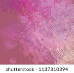contemporary art. hand made art.... | Shutterstock . vector #1137310394