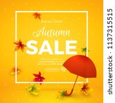 vector template of autumn sale... | Shutterstock .eps vector #1137315515