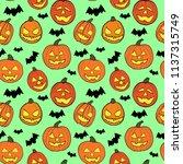 halloween seamless vector... | Shutterstock .eps vector #1137315749