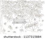 monochrome romantic background... | Shutterstock .eps vector #1137315884