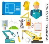 engineering construction... | Shutterstock .eps vector #1137317579