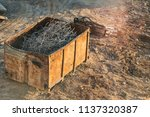 the container with the scrap.... | Shutterstock . vector #1137320387