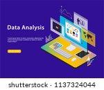 data concept. isometric vector... | Shutterstock .eps vector #1137324044