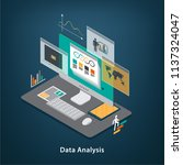data concept. isometric vector... | Shutterstock .eps vector #1137324047