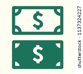 vector money icon set of... | Shutterstock .eps vector #1137324227
