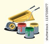 paint cans design | Shutterstock .eps vector #1137330077
