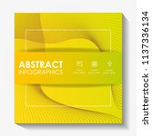 template infographic with... | Shutterstock .eps vector #1137336134