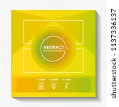 template infographic with... | Shutterstock .eps vector #1137336137