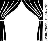 theatre stage icon simple.... | Shutterstock .eps vector #1137337754