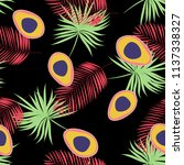 tropical seamless pattern with... | Shutterstock .eps vector #1137338327