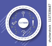 template infographic with... | Shutterstock .eps vector #1137338687