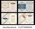 set of decorative frame in... | Shutterstock .eps vector #1137340694