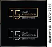 15th years anniversary... | Shutterstock .eps vector #1137343394