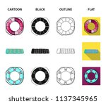 multicolored swimming circle... | Shutterstock .eps vector #1137345965