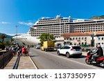 kotor  montenegro   june  2018  ... | Shutterstock . vector #1137350957