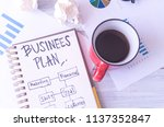 business plan idea sketch with... | Shutterstock . vector #1137352847