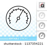 barometer thin line icon.... | Shutterstock .eps vector #1137354221