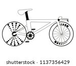racing bicycle silhouette | Shutterstock .eps vector #1137356429