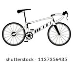racing bicycle silhouette | Shutterstock .eps vector #1137356435