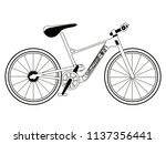 racing bicycle silhouette | Shutterstock .eps vector #1137356441