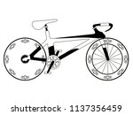 racing bicycle silhouette | Shutterstock .eps vector #1137356459