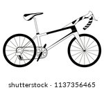 racing bicycle silhouette | Shutterstock .eps vector #1137356465