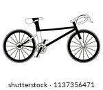 racing bicycle silhouette | Shutterstock .eps vector #1137356471