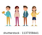 students in different character ... | Shutterstock .eps vector #1137358661