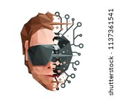 low poly artificial mind... | Shutterstock .eps vector #1137361541