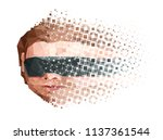 artificial mind decay abstract... | Shutterstock .eps vector #1137361544