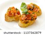 food dish bruschetta cherry... | Shutterstock . vector #1137362879