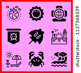 simple 9 icon set of sea...   Shutterstock .eps vector #1137368339