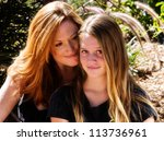 proud mother with pretty teen... | Shutterstock . vector #113736961