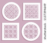 templates for laser cutting ... | Shutterstock .eps vector #1137394649